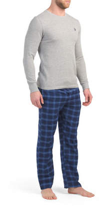 Flannel Pants With Thermal Top