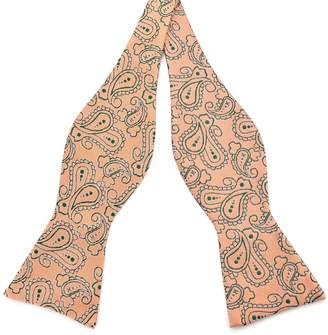 Pense'e PenSee Mens Self Bow Tie Woven Silk Bow Ties