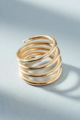 Anthropologie Tipped Coil Ring