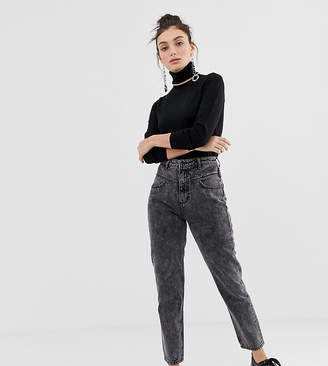 Stradivarius mom fit jean in washed grey