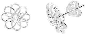 ITSY BITSY itsy bitsy Sterling Silver Crystal Flower Earrings