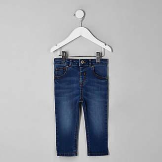 River Island Mini boys light blue Sid skinny jeans