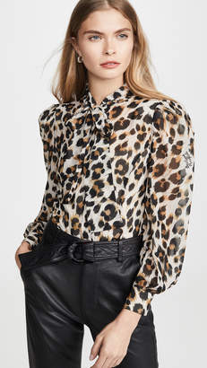 Moschino Leopard Blouse