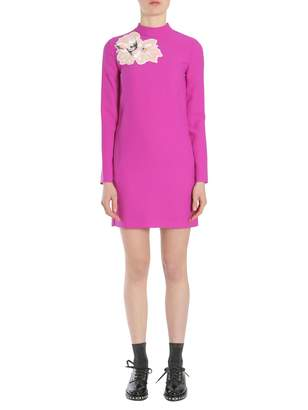 Carven Dress With Flower Patch