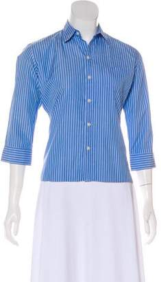 Ralph Lauren Black Label Striped Button-Up Top
