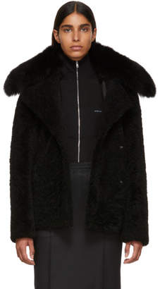 Yves Salomon Black Curly Merinillo Jacket