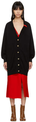 Loewe Black Leather Band Cardigan