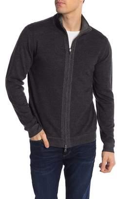 Tailor Vintage Merino Wool Zip-Up Sweater