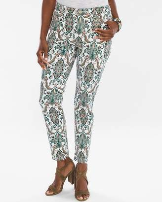 So Slimming Damask Girlfriend Ankle Jeans