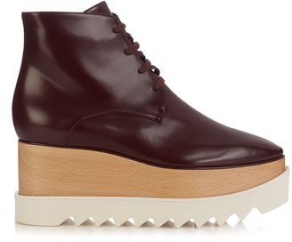 STELLA MCCARTNEY Elyse lace-up platform boots $905 thestylecure.com