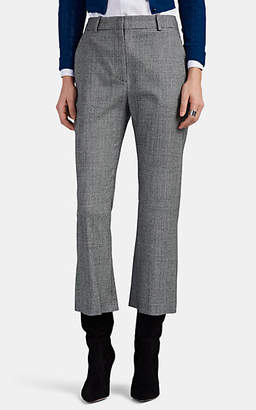 Altuzarra Women's Adler Prince Of Wales Checked Wool Crop Flared Pants - Black Pat.
