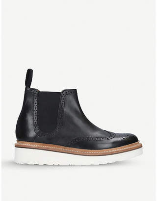Grenson Alice leather wedge boots