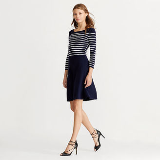 Ralph Lauren Striped Fit-and-Flare Dress $139 thestylecure.com