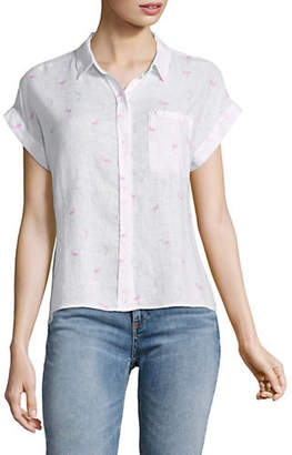 Rails Whitney Flamingos Short Sleeve Top