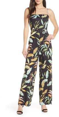 Chelsea28 Sleeveless Print Jumpsuit