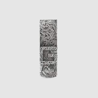 Gucci Money clip with Square G in silver