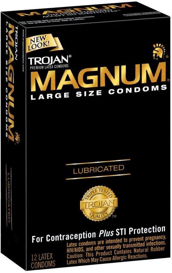 Trojan Magnum Lubricated Latex Condoms-12 ct