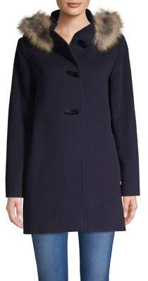 Cinzia Rocca Icons Fox Fur-Trimmed Wool & Cashmere Jacket