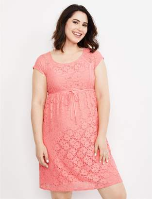 dc4b393ee5efb Motherhood Maternity Crochet Lace Maternity Dress