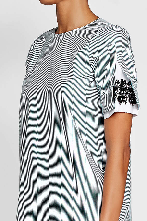 N°21 N21 Striped Cotton Blouse with Embellishment