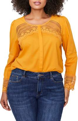 Addition Elle LOVE AND LEGEND Crochet Inset Blouse