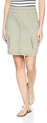 Tribal Women's Distressed Pull on Skirt