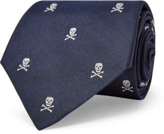 Ralph Lauren Skull-and-Crossbones Repp Tie