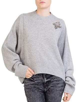 The Kooples Jeweled Cashmere Sweater
