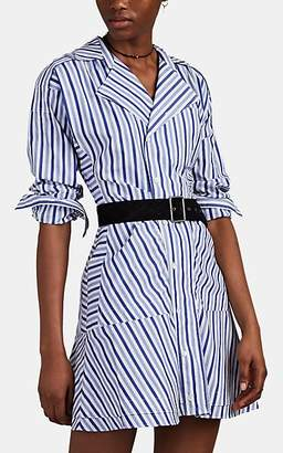 Derek Lam 10 Crosby Women's Striped Cotton Shirtdress - Blue