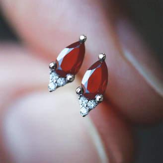 8a25a3e2f RegalRose Pear Drop Garnet Sterling Silver Or Gold Earrings