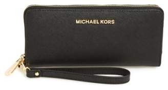 MICHAEL Michael Kors 'Jet Set' Leather Travel Wallet