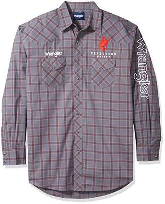 Wrangler Men's Tall Size Western Logo Long Sleeve Snap Front Shirt