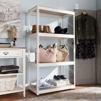 Baxton Studio Cody 3-Shelf Storage Rack