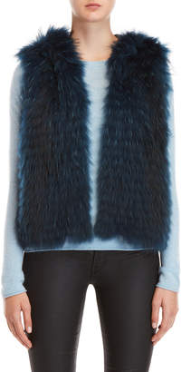 Yves Salomon Real Fur Hooded Vest