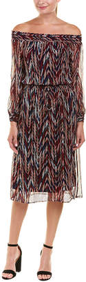 Ella Moss Smocked Silk Maxi Dress