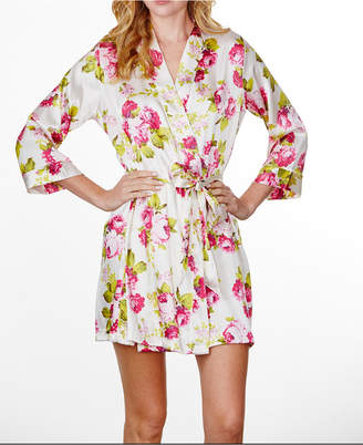 Wedding Prep Gals Plus Size Floral Ruffled Robe, Online Only