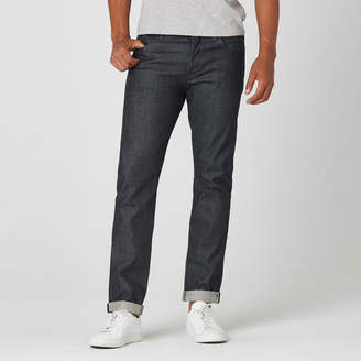 DSTLD Skinny-Slim Raw Jeans in Selvedge Indigo - Grey