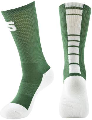 Women's Mojo Michigan State Spartans Champ 1/2-Cushion Performance Crew Socks