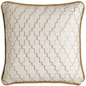 "Isabella Collection by Kathy Fielder Adeline Reversible Pillow, 20""Sq."