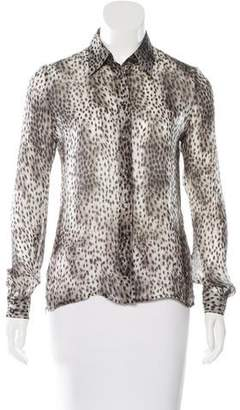 Barbara Bui Bui by Silk Cheetah Print Top