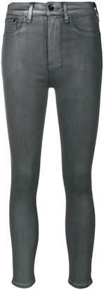 Rag & Bone metallic skinny jeans