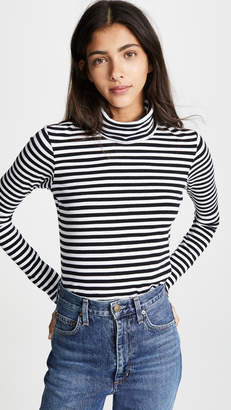Stateside Ribbed Crop Turtleneck