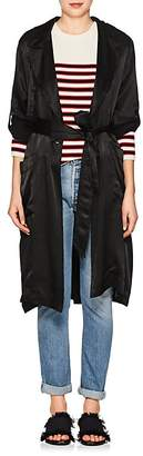 Raquel Allegra Women's Pebble Satin Trench Coat