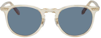 Garrett Leight Blue and Pink Transparent Ocean Sunglasses