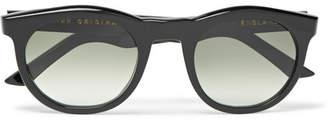 Kirk Originals Harvey Round-Frame Acetate Sunglasses