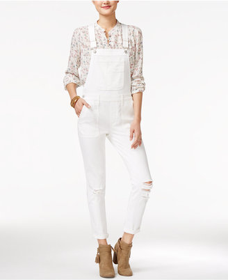 American Rag Ripped One White Wash Overalls, Only at Macy's $79.50 thestylecure.com