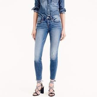 """J.Crew Tall 8"""" toothpick skinny jeans in medium wash"""