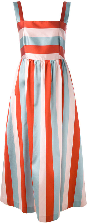 RED ValentinoRed Valentino block striped gown