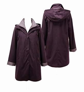 Gallery Women's Plus Size Missy 3/4 a Line Rain Coat