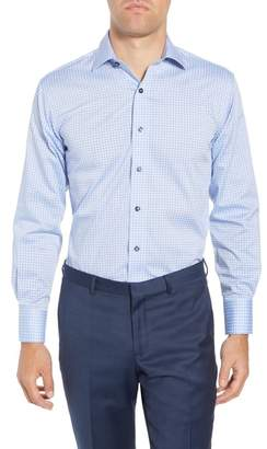 Lorenzo Uomo Trim Fit Geometric Dress Shirt